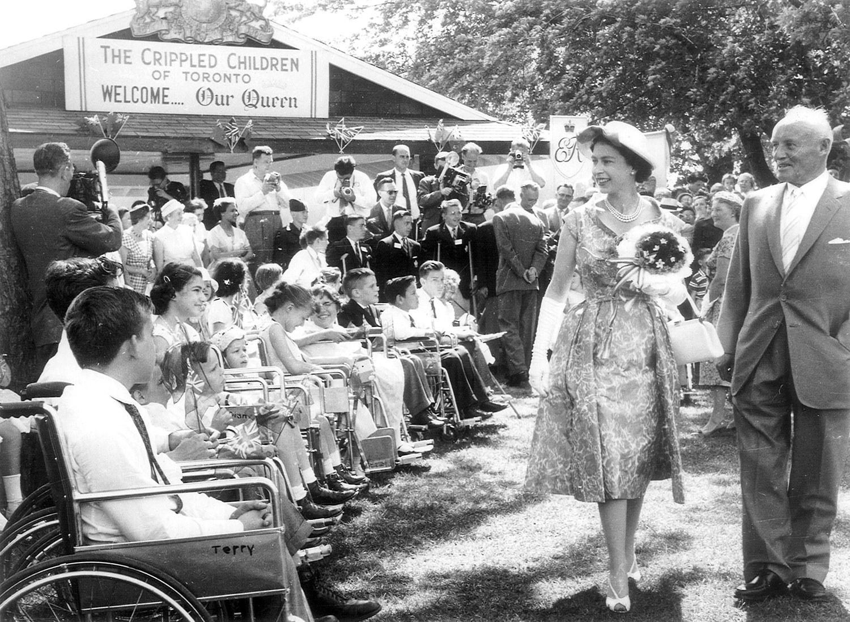 Meeting the Queen in 1959 (Photo: David Onley)