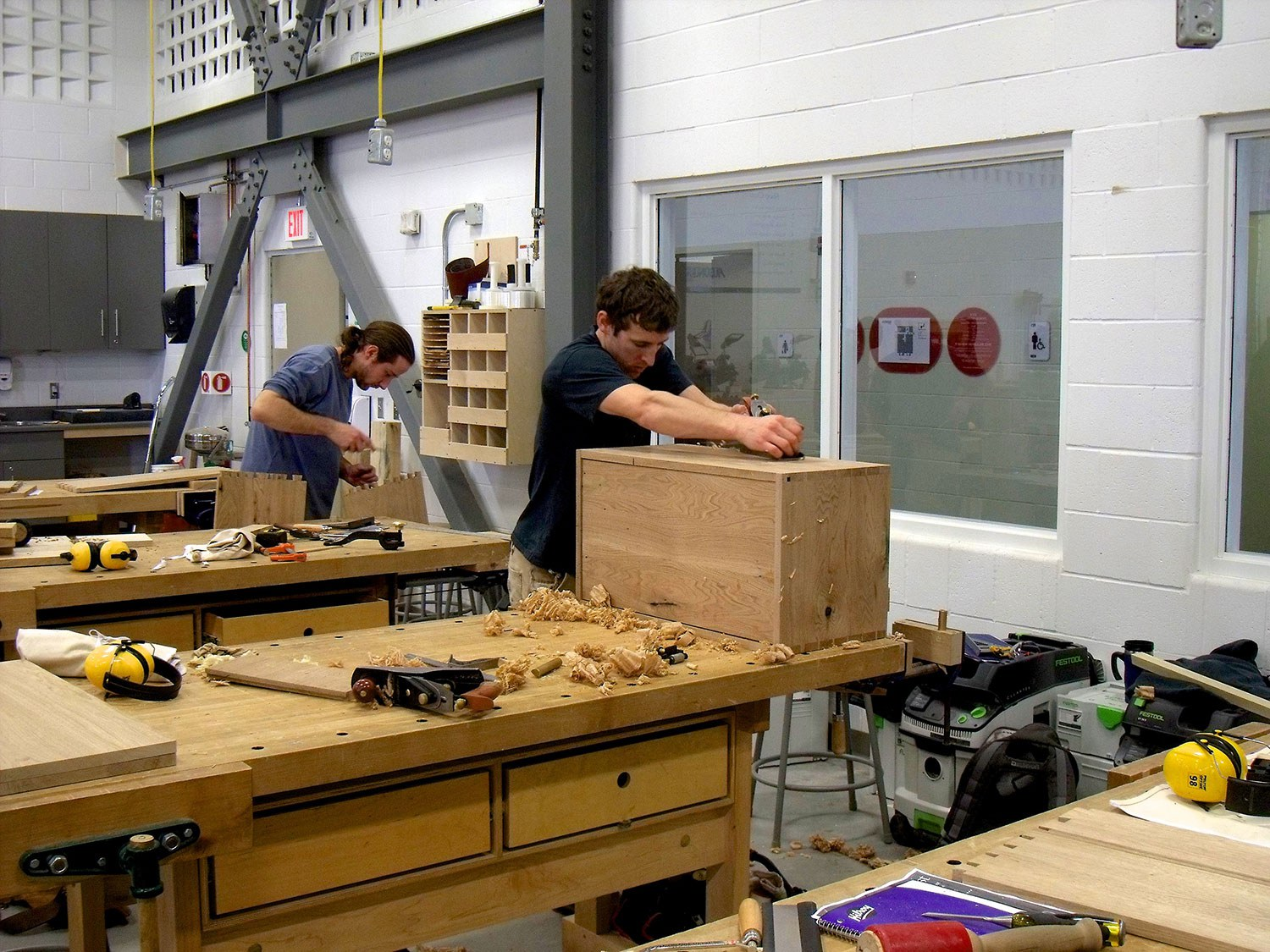 Students at Algonquin College Perth Campus (Marketing) Carpentry and Joinery – Heritage Program
