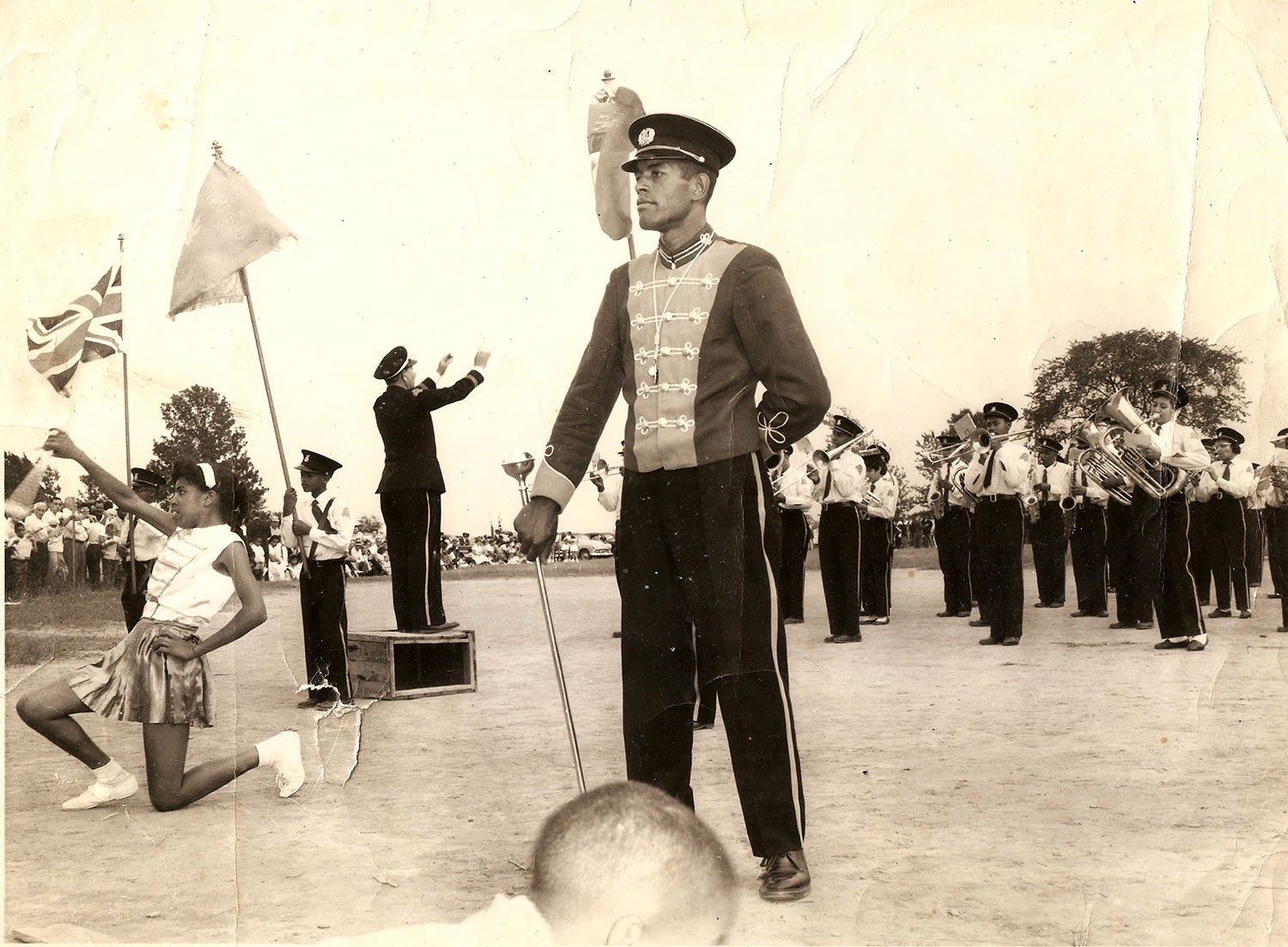 North Buxton Maple Leaf Band at a tattoo hosted in North Buxton, 1960 (Photo courtesy of Adrienne Shadd)