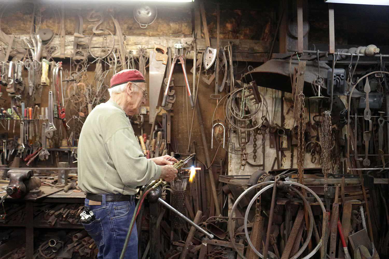 Andreas Drenters in his workshop