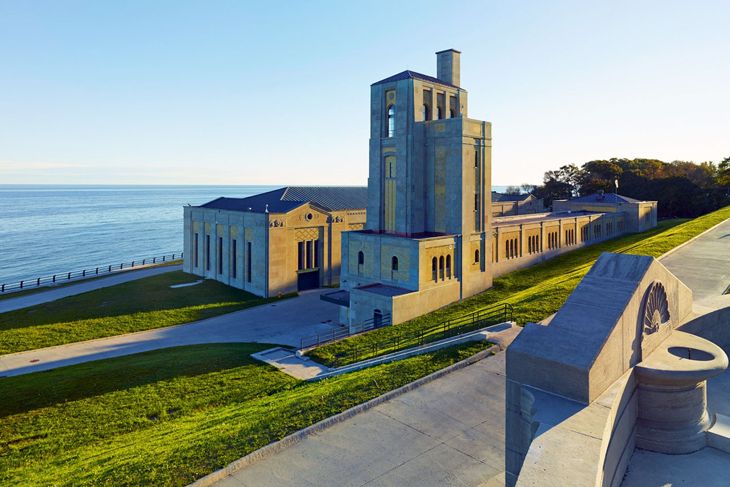 R.C. Harris Water Filtration Plant overlooking Lake Ontario (Photo courtesy of Taylor Hazell Architects)