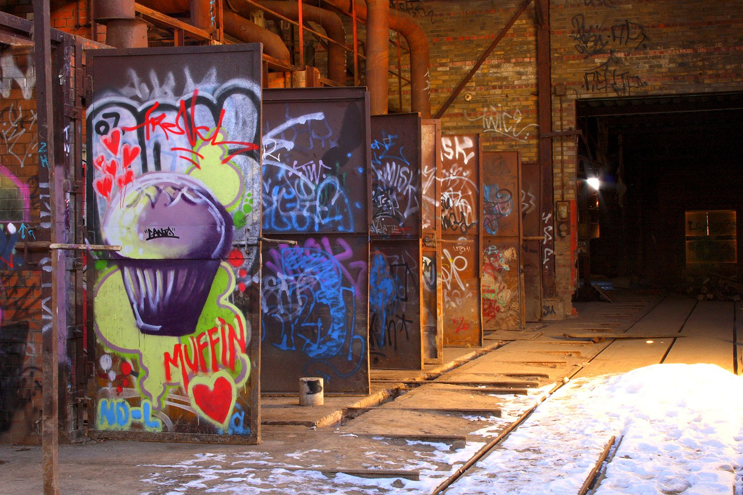 From wall to wall and kiln to kiln, thousands of individual types, styles and techniques of artistic graffiti can be found at Evergreen Brick Works, dating back to the early 1980s (Photo: Michelle Scrivener)