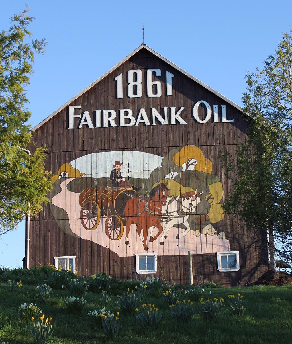 Fairbank Oil barn (Photo courtesy of Charles Oliver Fairbank III)