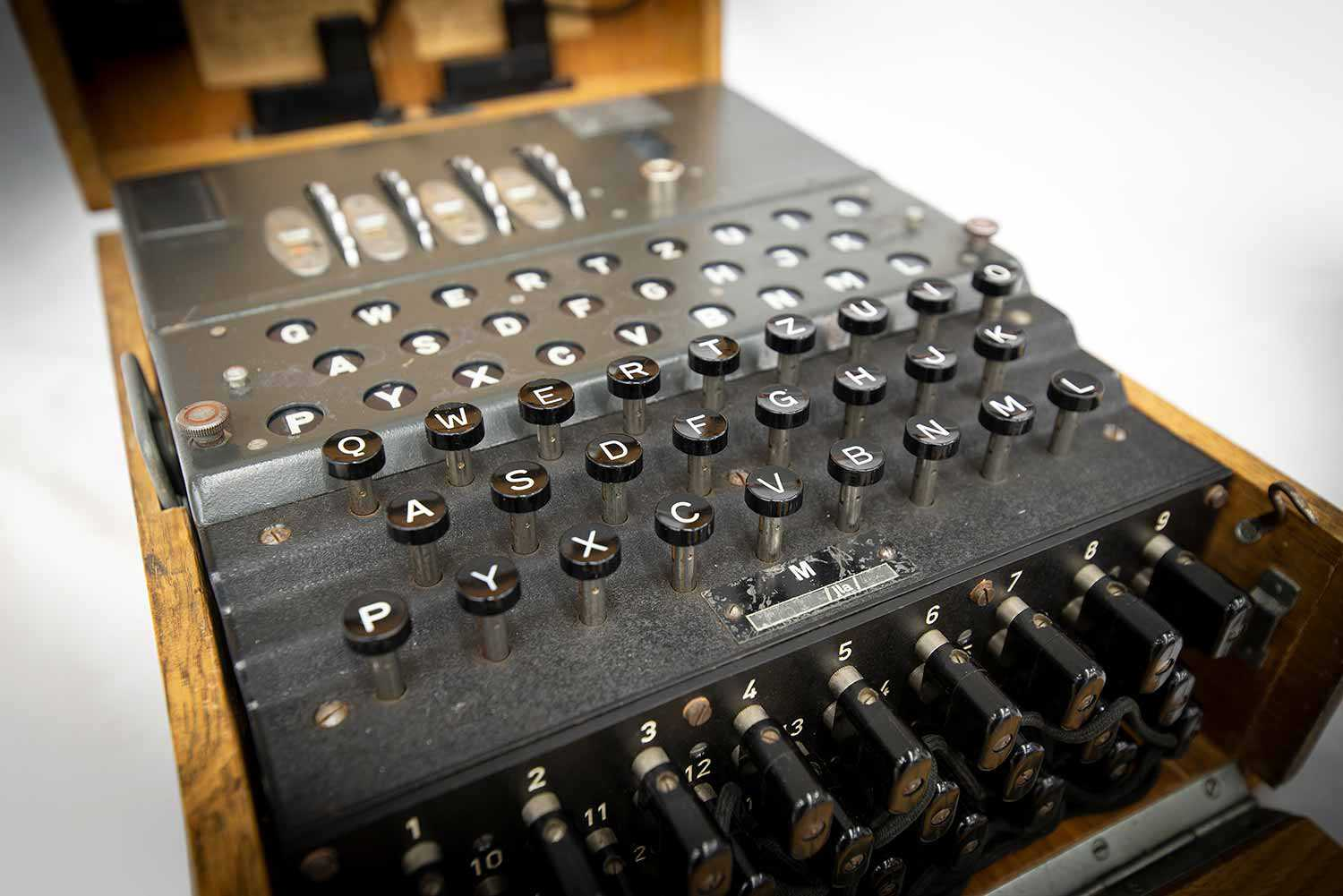 An Enigma machine from a German submarine.