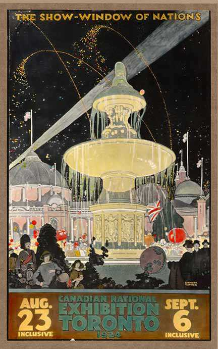 CNE Show Window of Nations poster, 1924