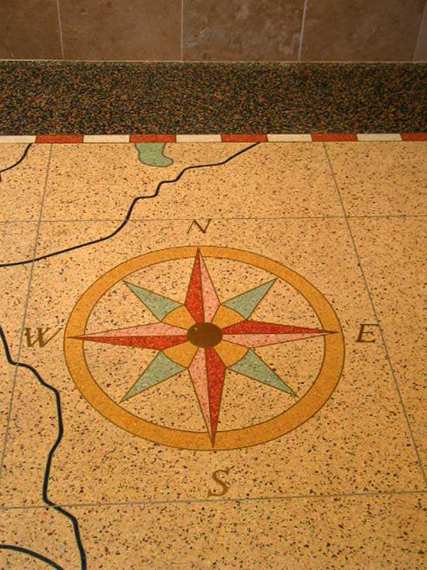 Compass Rose on floor in front foyer of Peterborough City Hall (Photo: Michael Eamon)