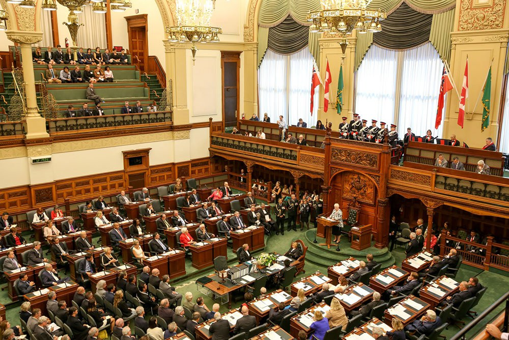 Legislative Assembly (Photo courtesy of the Office of the Lieutenant Governor of Ontario)
