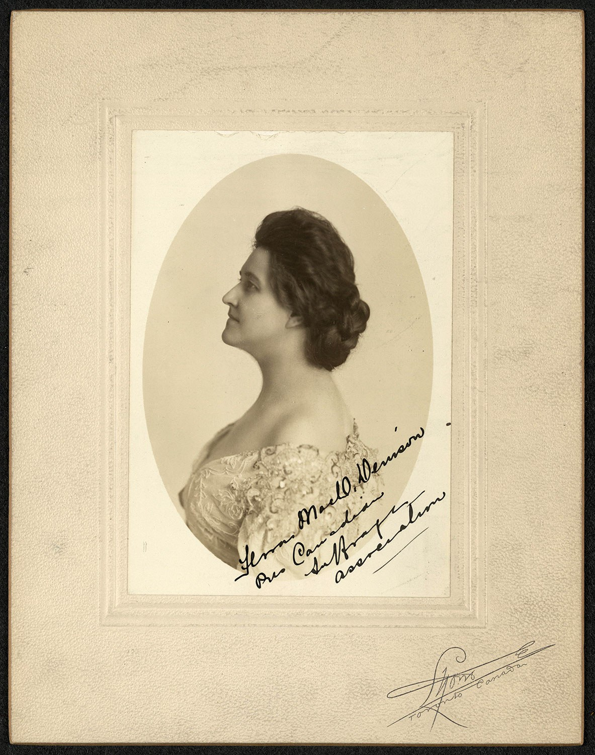 Flora MacDonald Denison, Pres[ident] Canadian Suffrage Association, Women of Protest: Photograph from the Records of the National Woman's Party, Manuscript Division, Library of Congress, Washington, D.C. www.loc.gov/resource/mnwp.149016 March 13, 2018