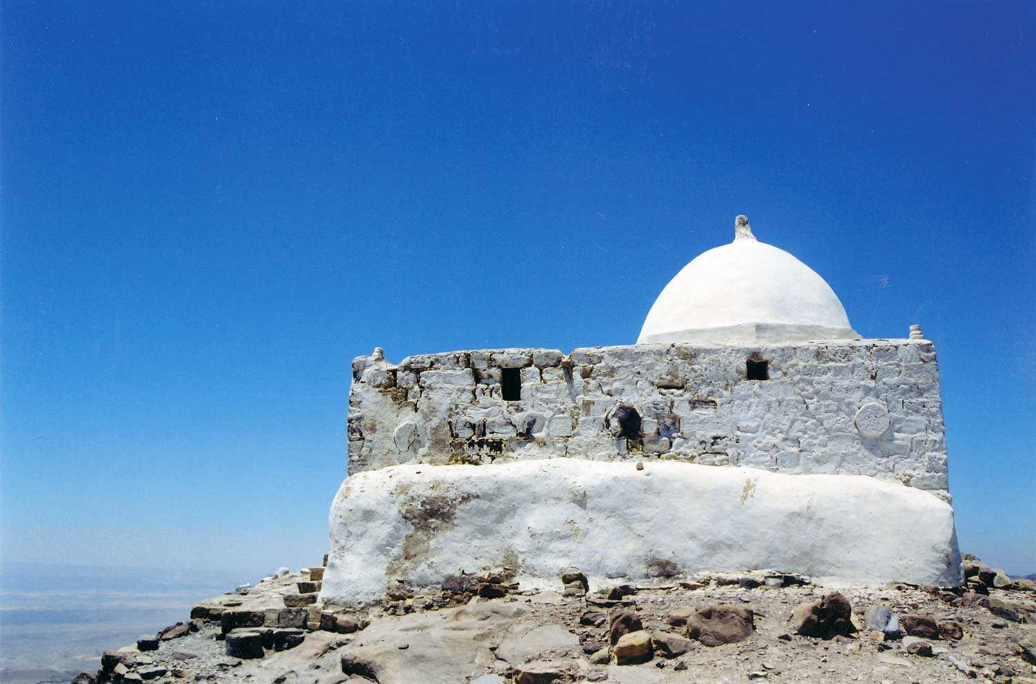 The pilgrimage shrine on the summit of Jebel Haroun in Jordan is celebrated as the tomb of the Aaron, brother of Moses. (Photo courtesy of Sean Fraser)