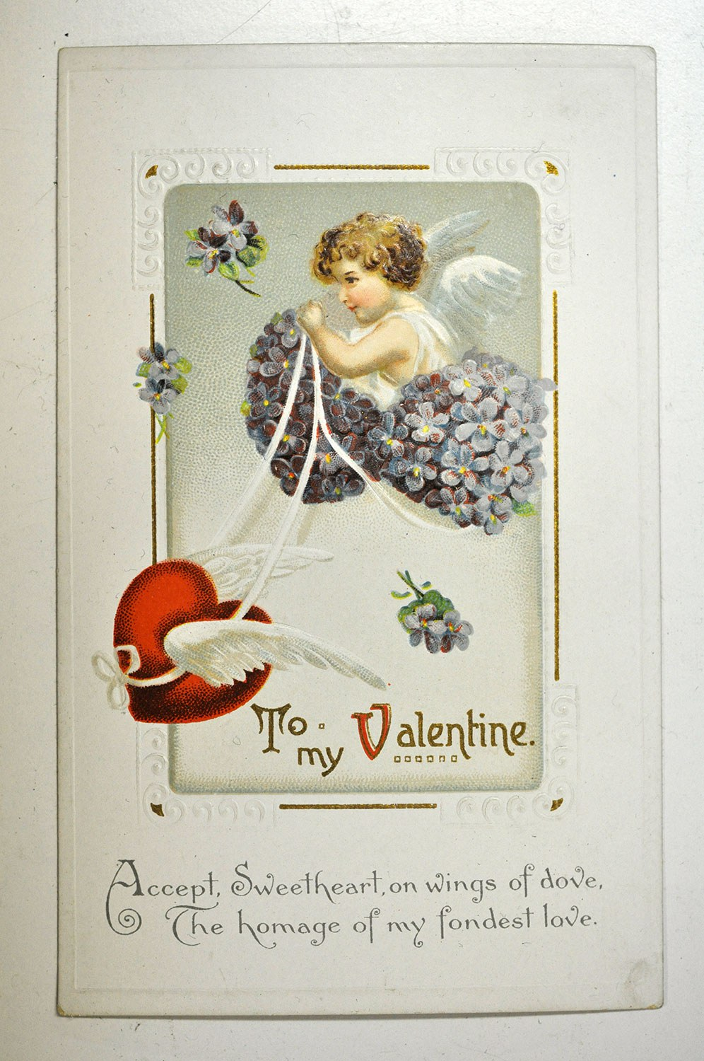 Valentine sent to Dorothy Ashbridge in 1914 from her friend Norma