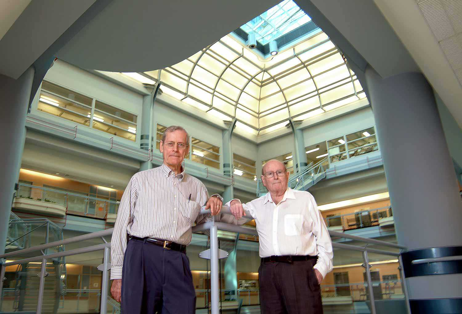 Drs. Jim Till and Ernest McCulloch (Photo: University of Toronto)