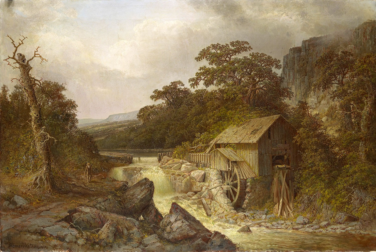 The Pioneer Mill, 1880, by Homer Watson, oil on canvas, 86 x 127 cm, Royal Collection (Photo: Royal Collection Trust/© HM Queen Elizabeth II 2012)