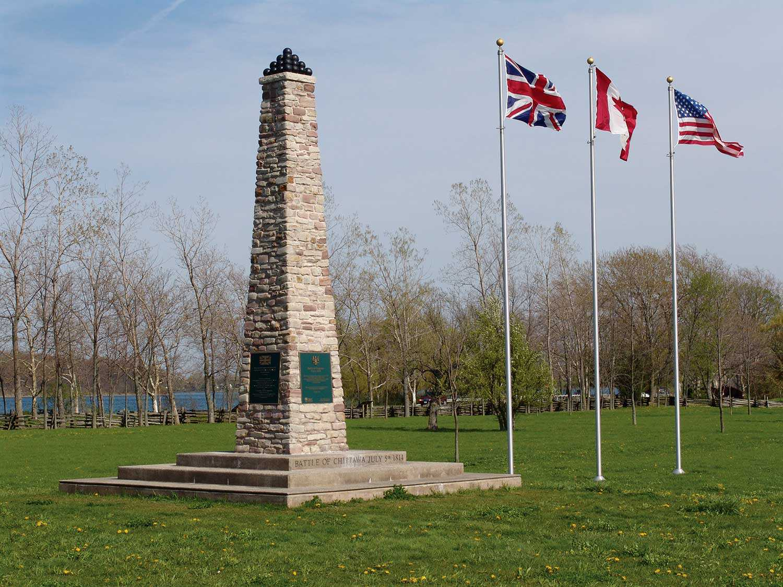 Chippawa monument (Photo courtesy of The Niagara Parks Commission)