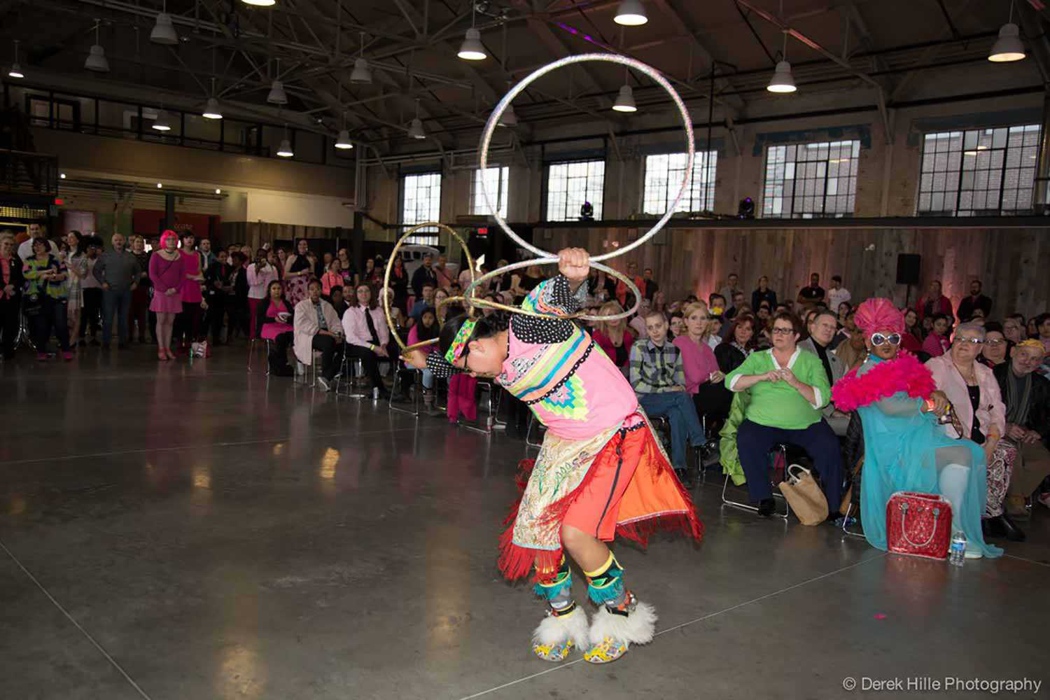 Theland Kicknosway dances at the Day of Pink gala (Photo: Derek Hills Photography)