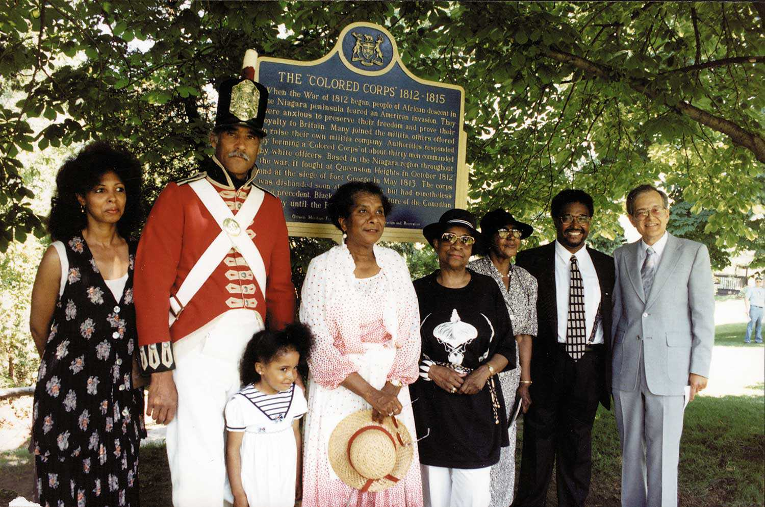 """The """"Colored Corps"""" provincial plaque unveiling (1994)"""