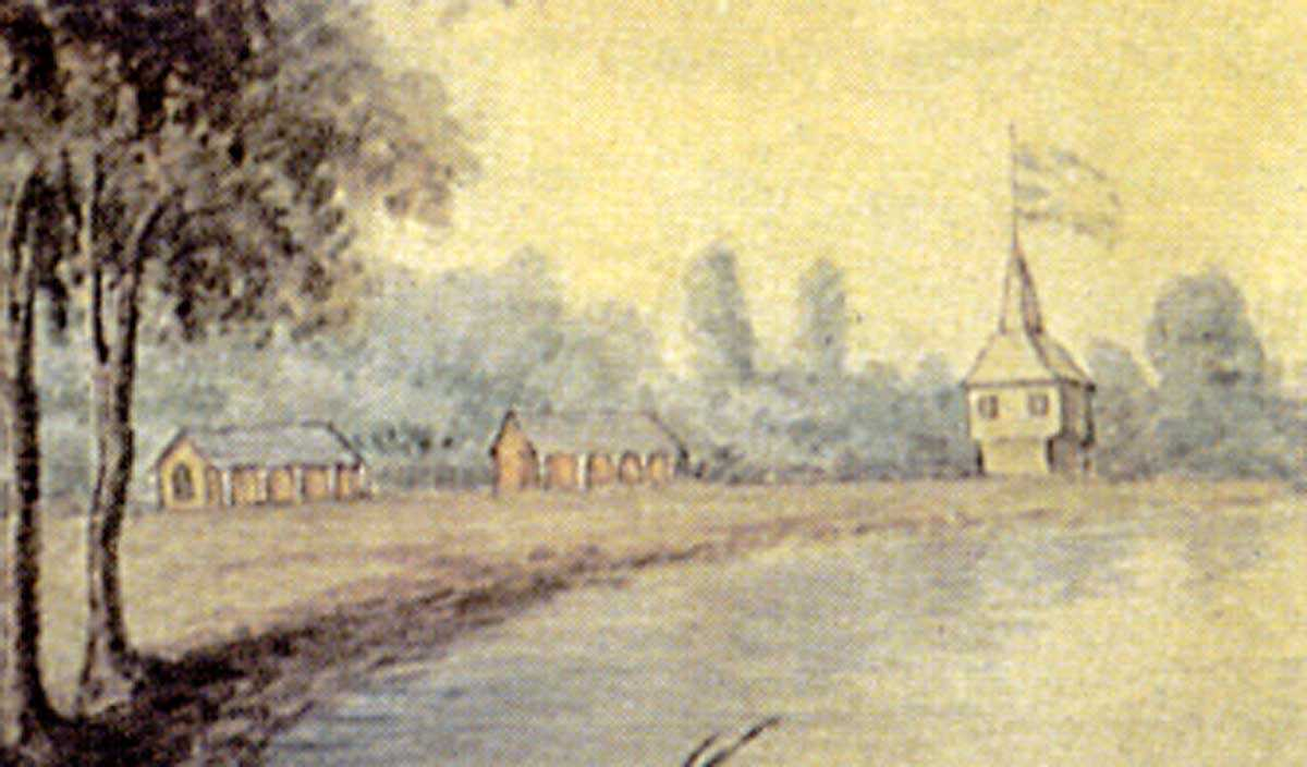 York, Upper Canada, ca.1804 (detail), Elizabeth Frances Hale Image courtesy of Library and Archives Canada, 1970-188-2092.