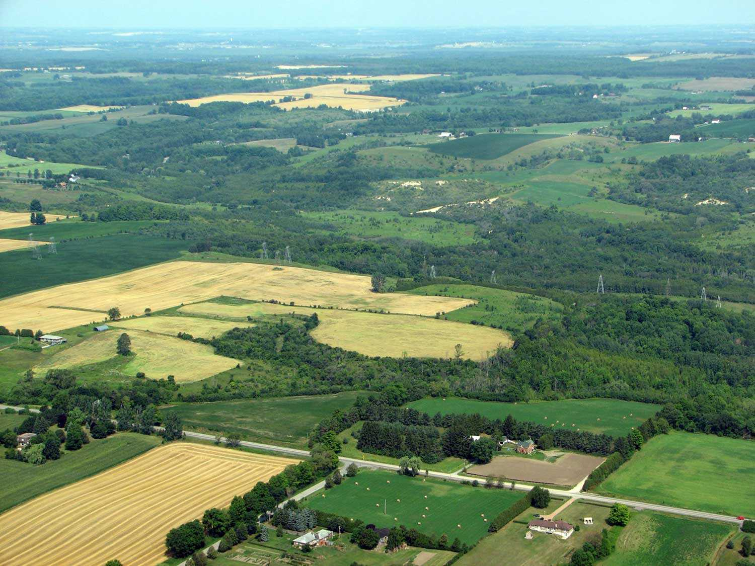 An aerial view of the Enniskillen Valleylands (Photo courtesy of the Central Lake Ontario Conservation Authority)