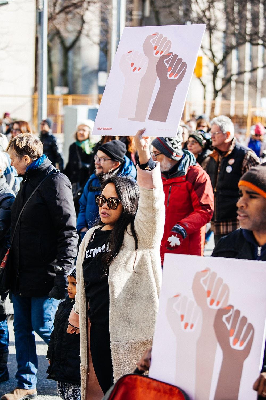 Women's March in Toronto in January 2018. Photo: Tanja Tiziana.