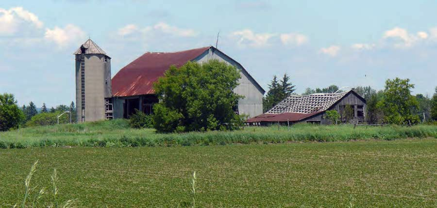 Decaying farm infrastructure in Markham.