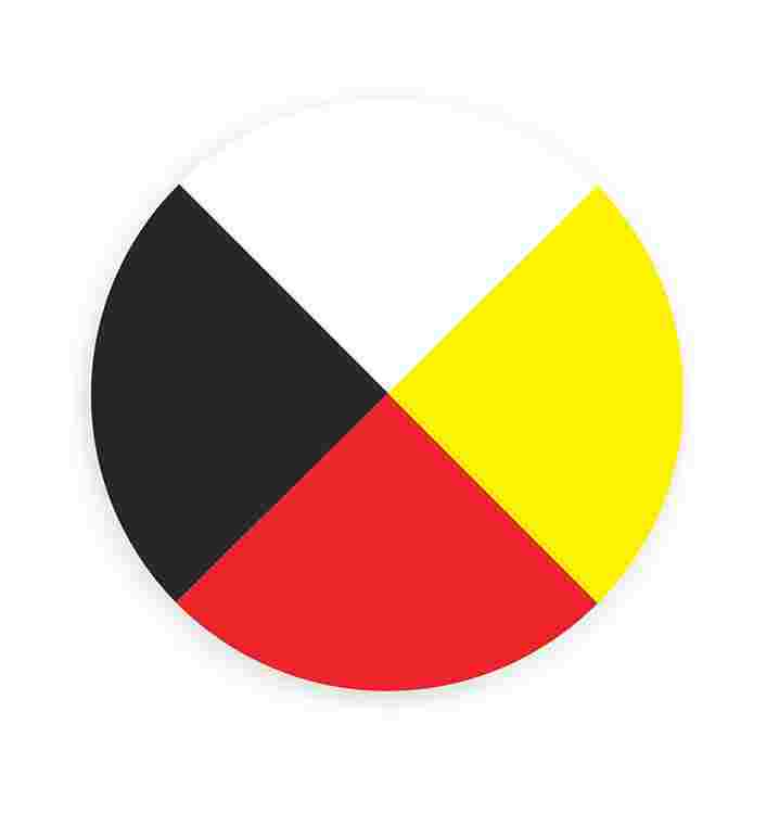 In addition to representing mental, physical, spiritual and emotional health, the quadrants of the medicine wheel are often used to represent the four seasons, stages of life, directions and elements of nature. The colours and colour placement in medicine wheels vary from nation to nation.