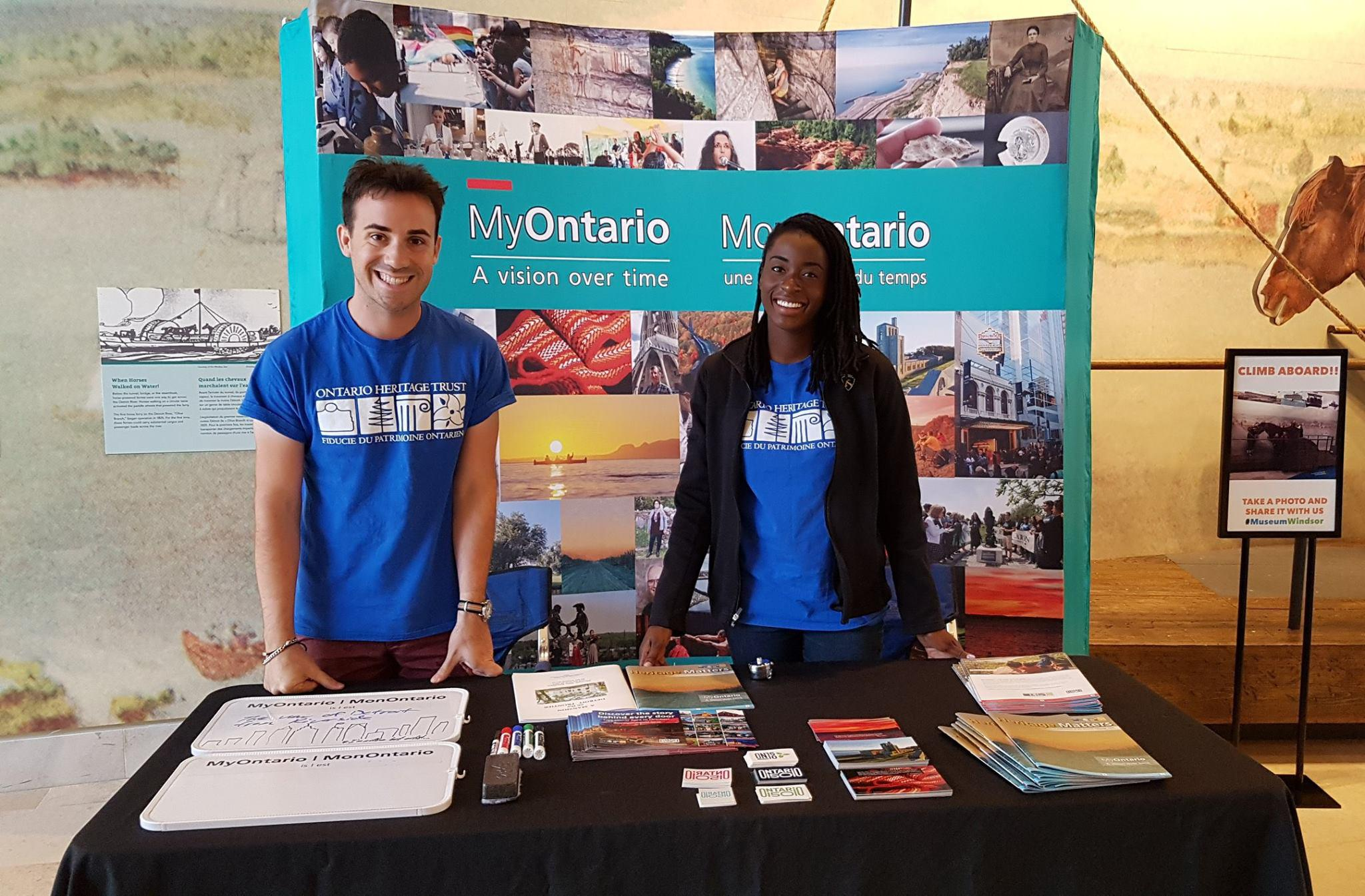 David and Olivia at their MyOntario booth at Chimczuk Museum in Windsor