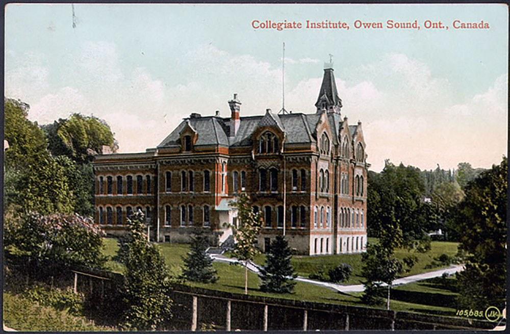 Collegiate Institute, Owen Sound (Photo courtesy of Toronto Public Library)