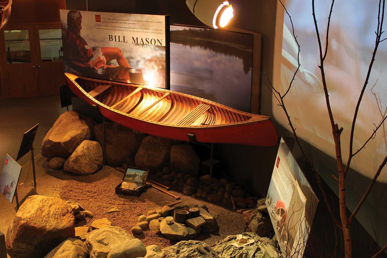Red Chestnut Prospector canoe of legendary canoeist, author and filmmaker Bill Mason (1929-1988) (Photo courtesy of John Summers, Canadian Canoe Museum)