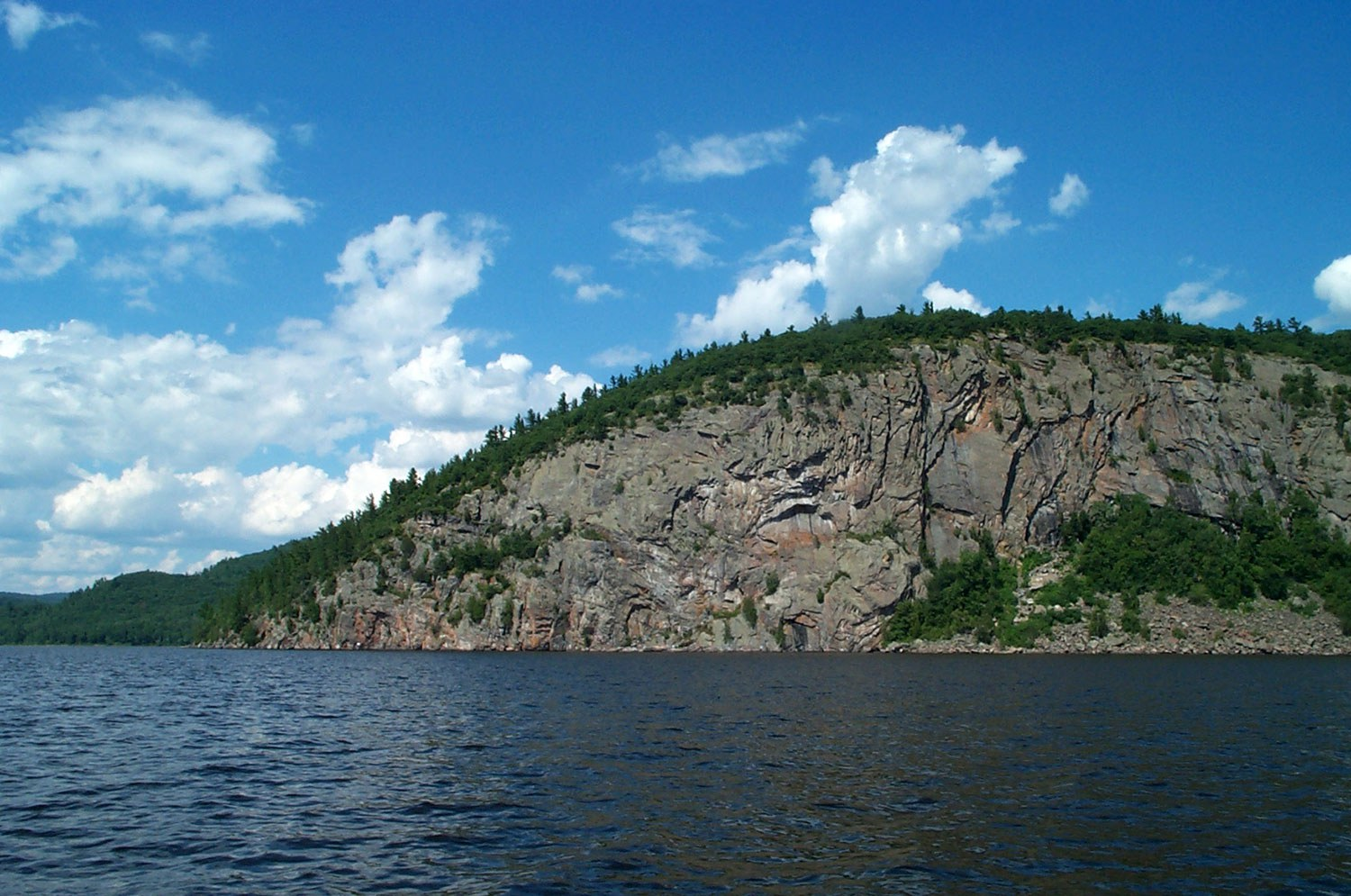 Oiseau Rock, a sacred site for aboriginal peoples who have left behind a remarkable legacy of ancient pictographs drawn using red ochre (Photo courtesy of Larry Graham)