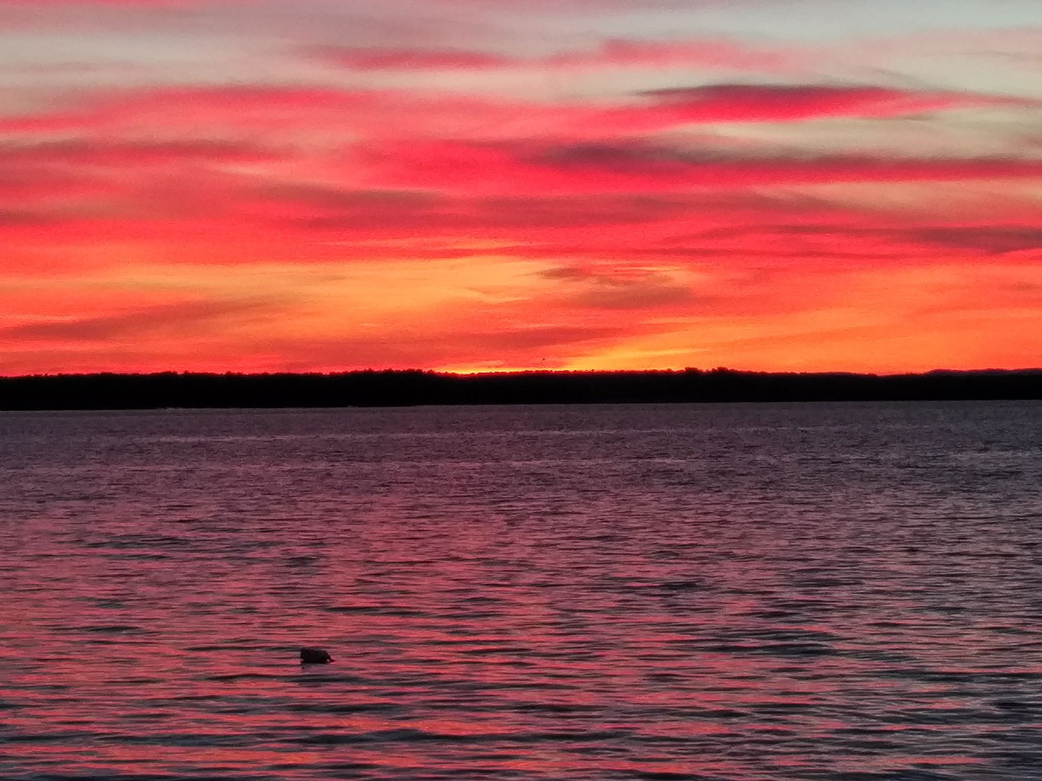 Sunset over Manitoulin Island
