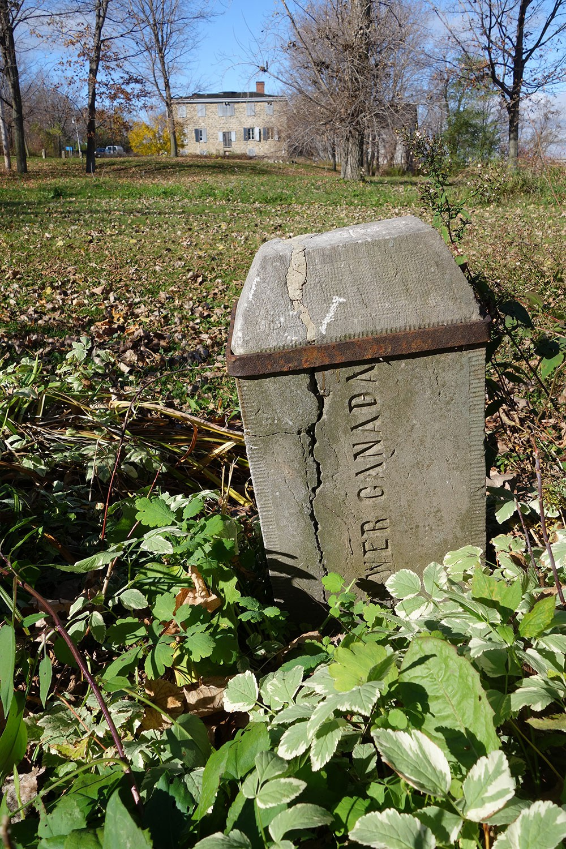 Stone boundary marker 1860