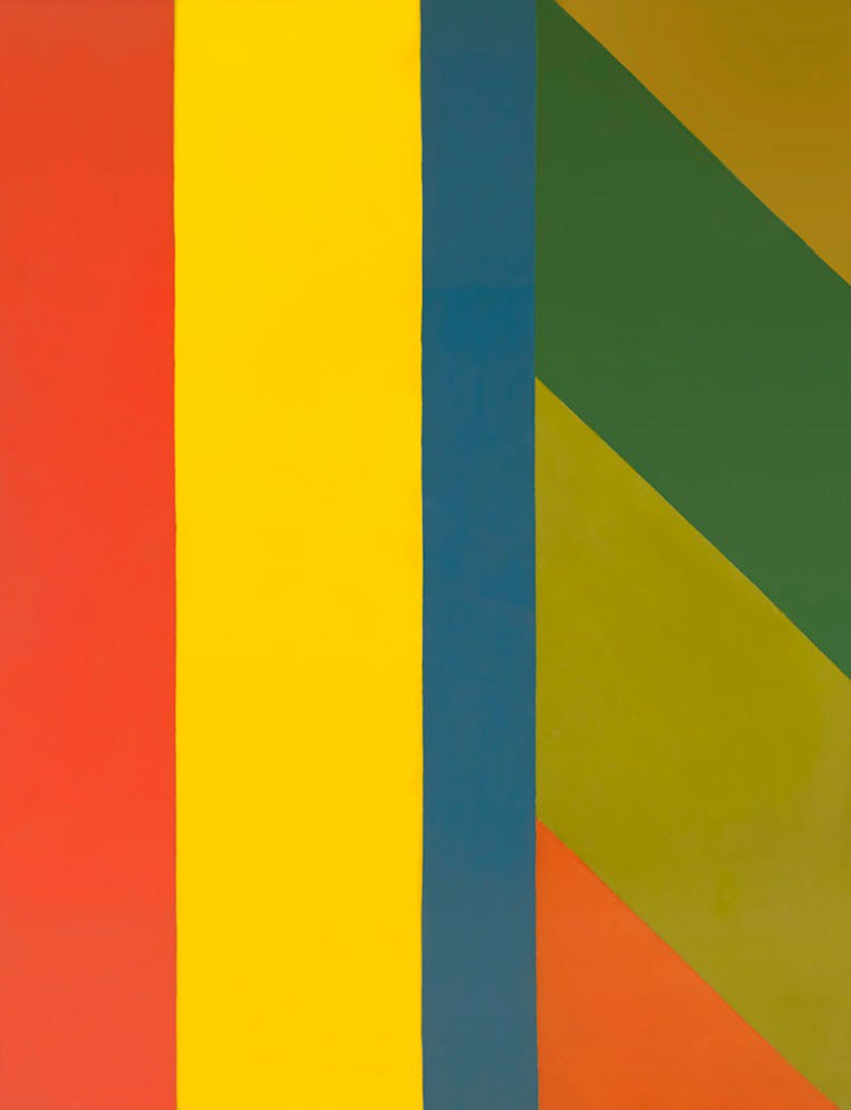 Jack Bush, Untitled, acrylic on canvas, 261.6 x 198.1 cm. Government of Ontario Art Collection, 619775.