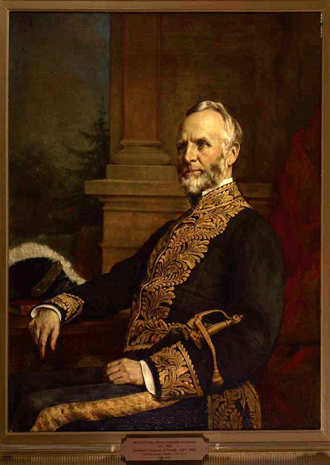 George Theodore Berthon, Hon. Donald Alexander Macdonald [Lieutenant Governor of Ontario, 1875-1880], oil on canvas, 109.2 x 81.3 cm. Government of Ontario Art Collection, 693132.
