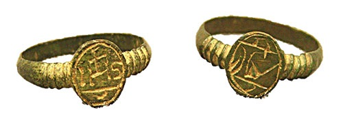 Iconographic copper-alloy rings recovered from 17th and 18th century archaeological sites are commonly attributed to Jesuit missionary activity.