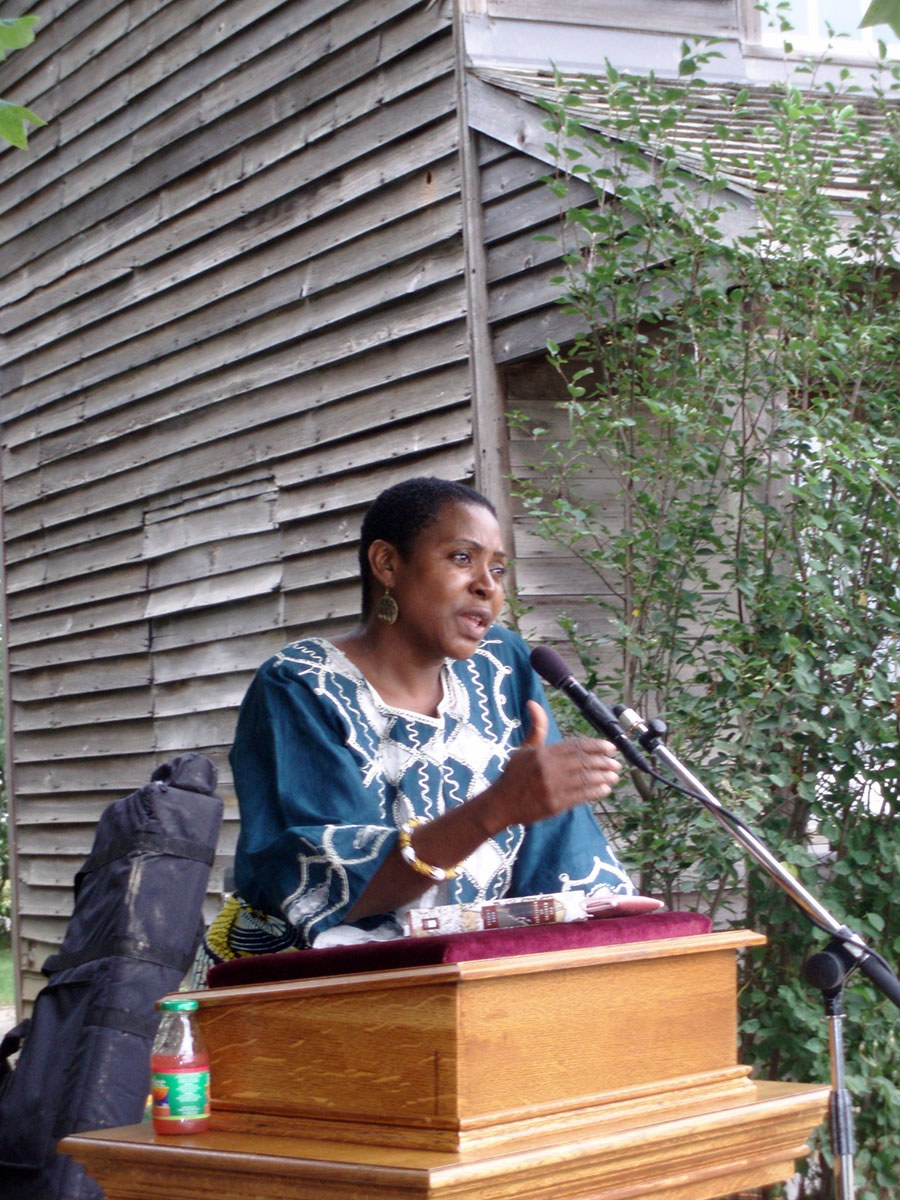 Afua Cooper at Emancipation Day celebrations at Uncle Tom's Cabin Historic Site, Dresden